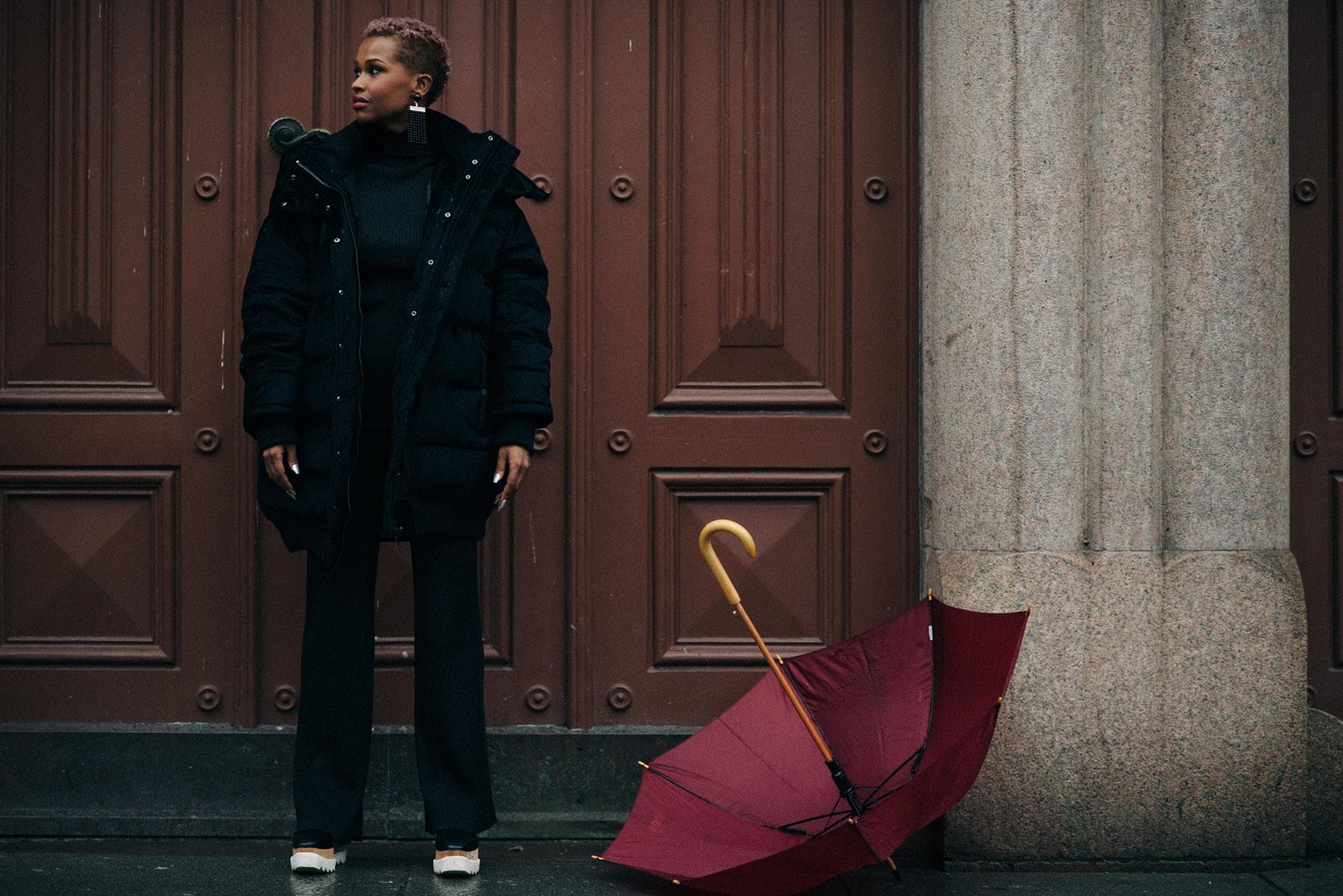 Hodo Musa wearing H&M velvet jacket
