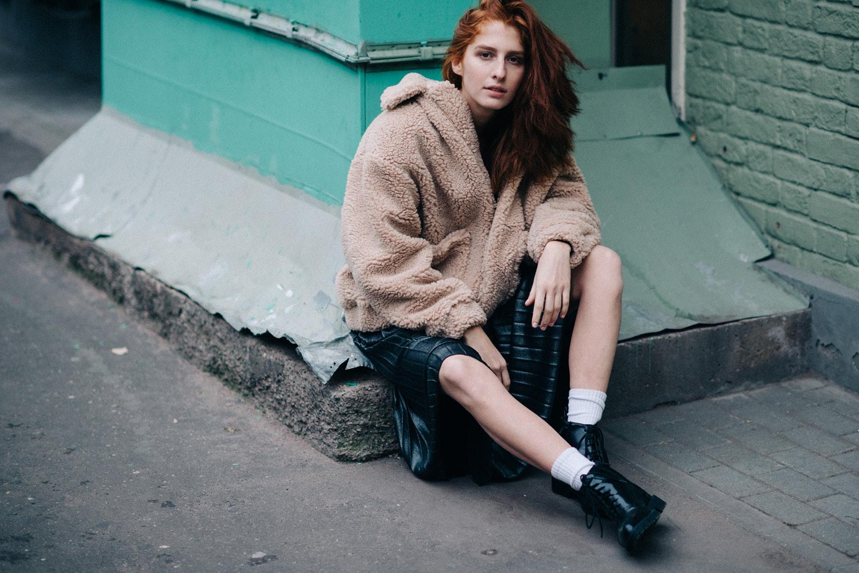 Musia Totibadze wearing H&M jacket
