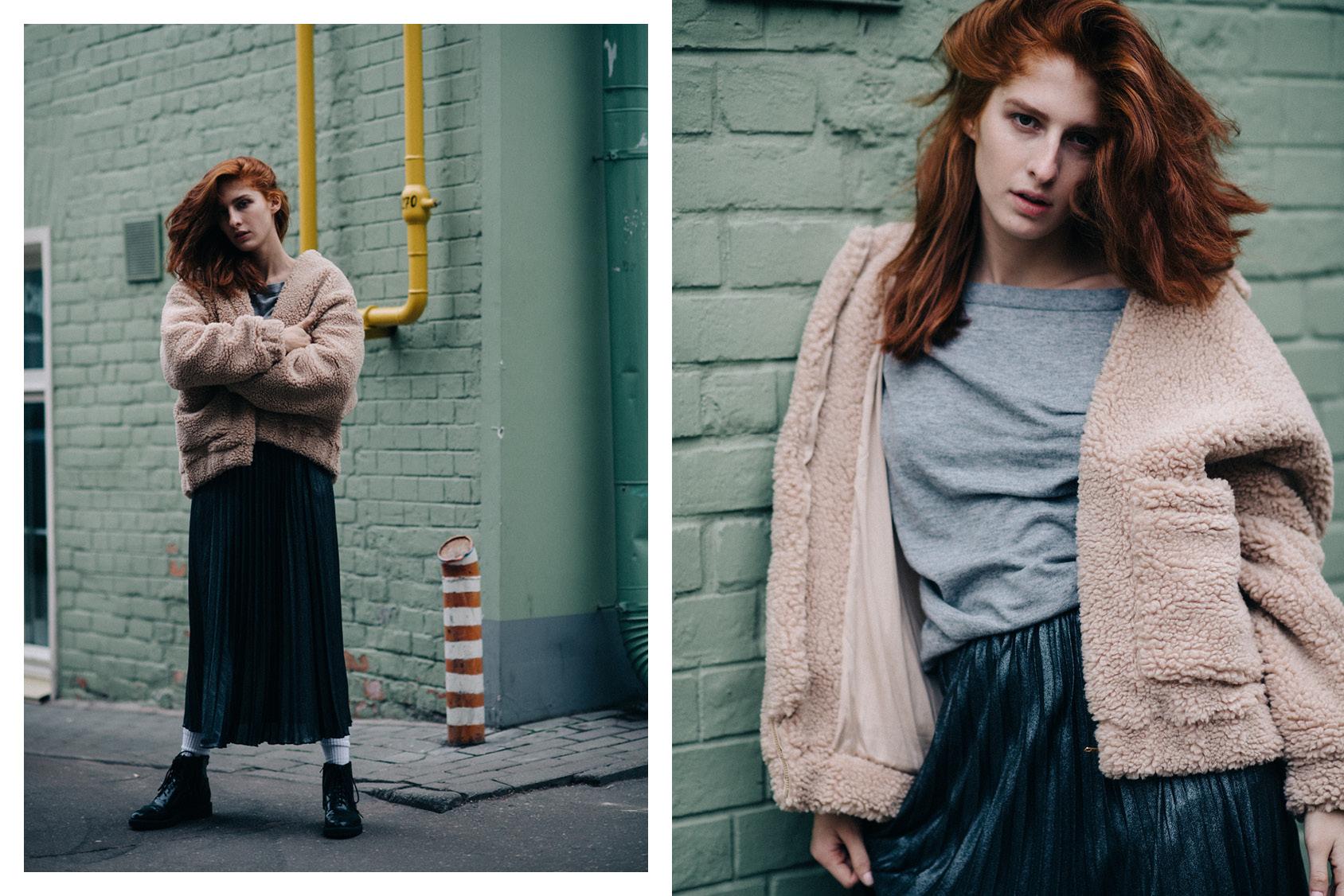 Musia Totibadze wearing H&M skirt