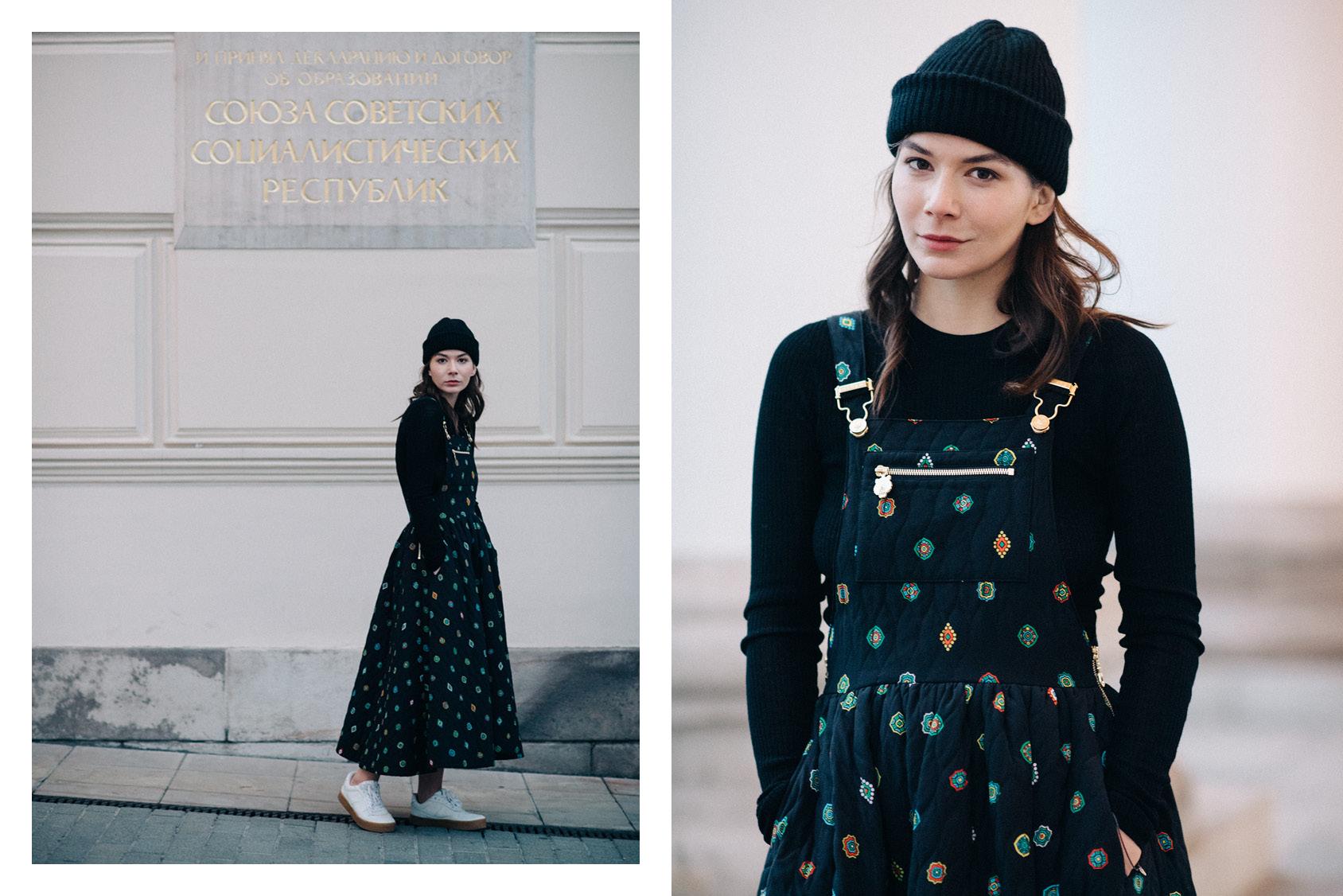 Sasha Mikhalkova in Kenzo x H&M dress