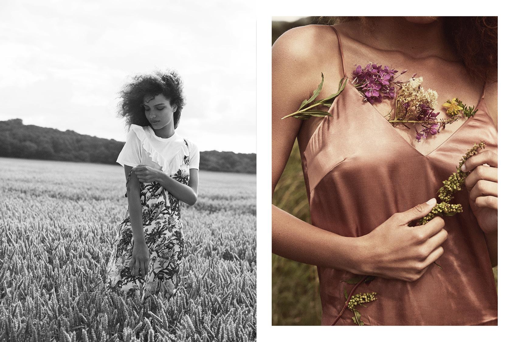 夏日田园H&M吊带裙