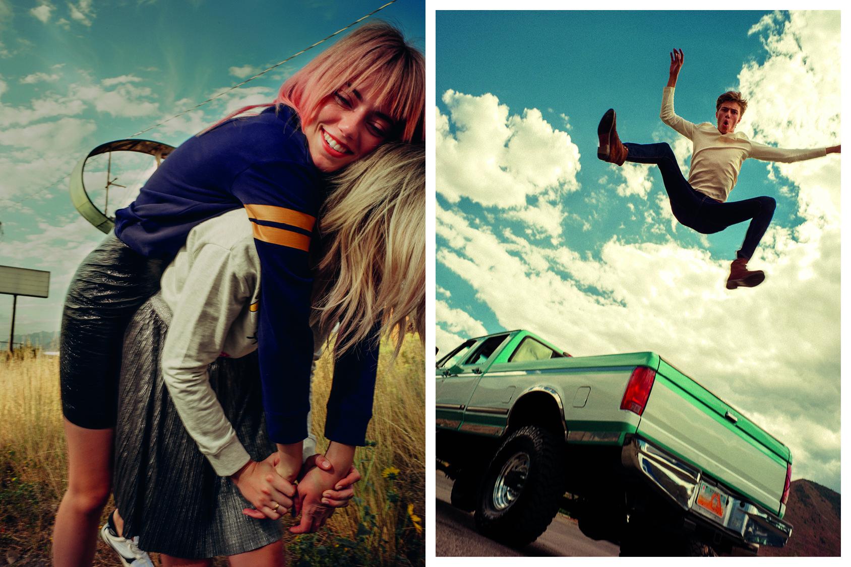 Pyper America, Daisy Clementine y Lucky Blue Smith vestidos de H&M.