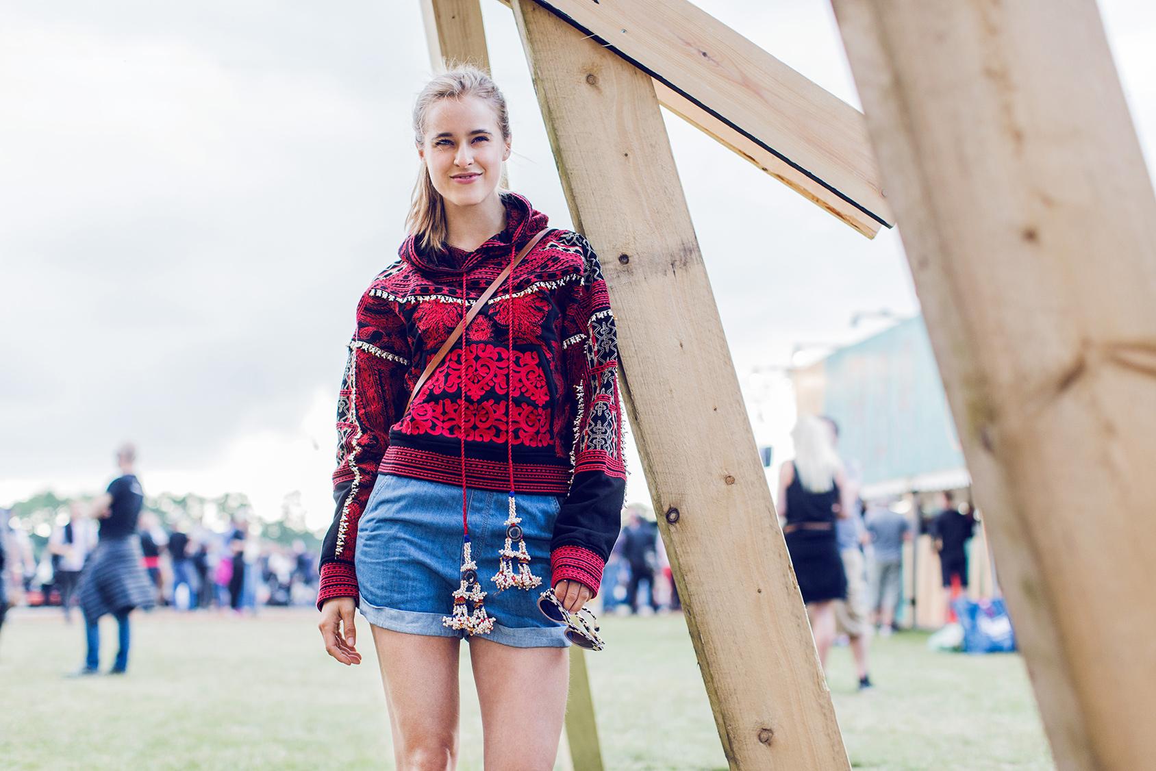 Cathrine Nissen lleva un jersey de H&M en Roskilde