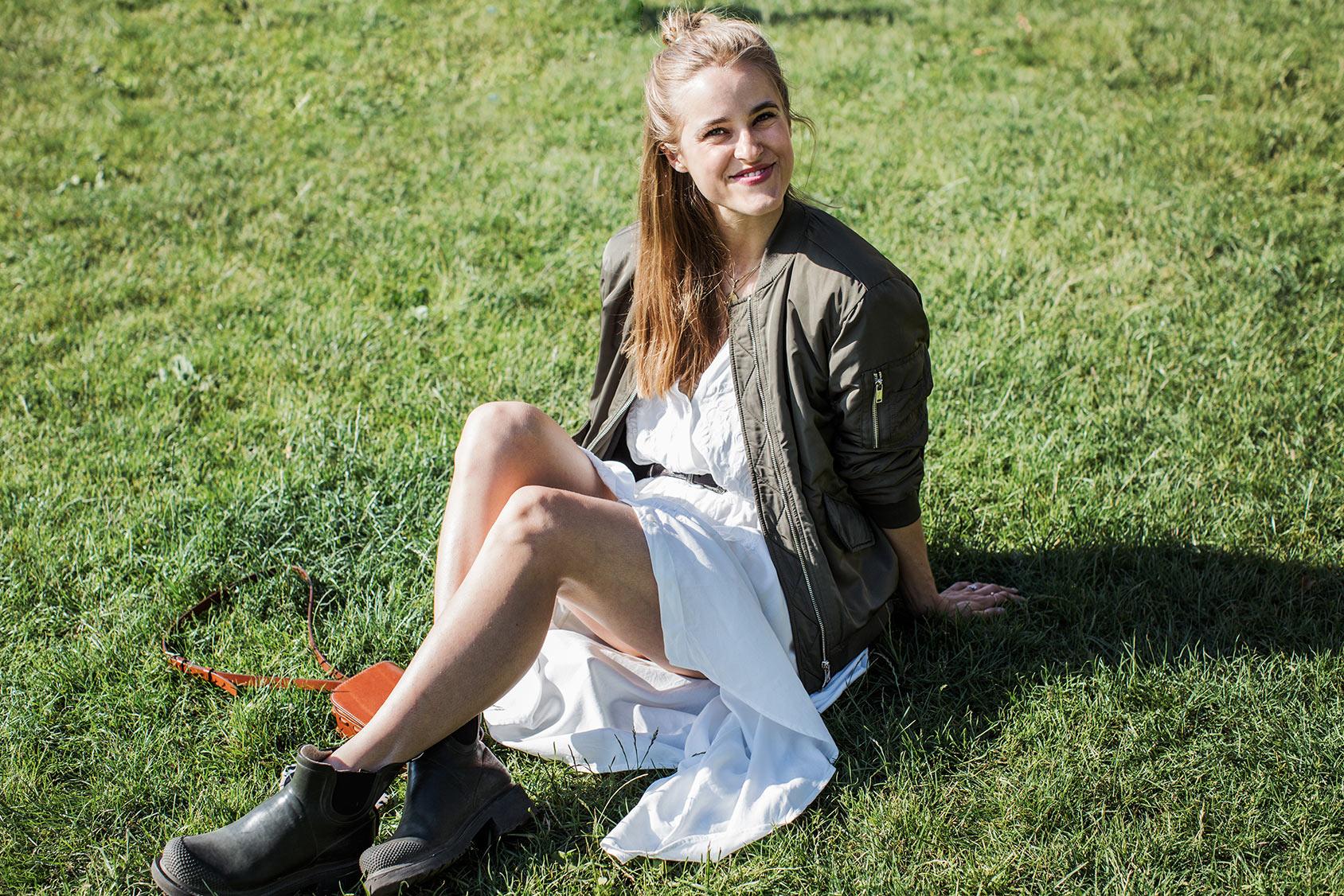 Cathrine Nissen lleva un vestido-camisa de H&M