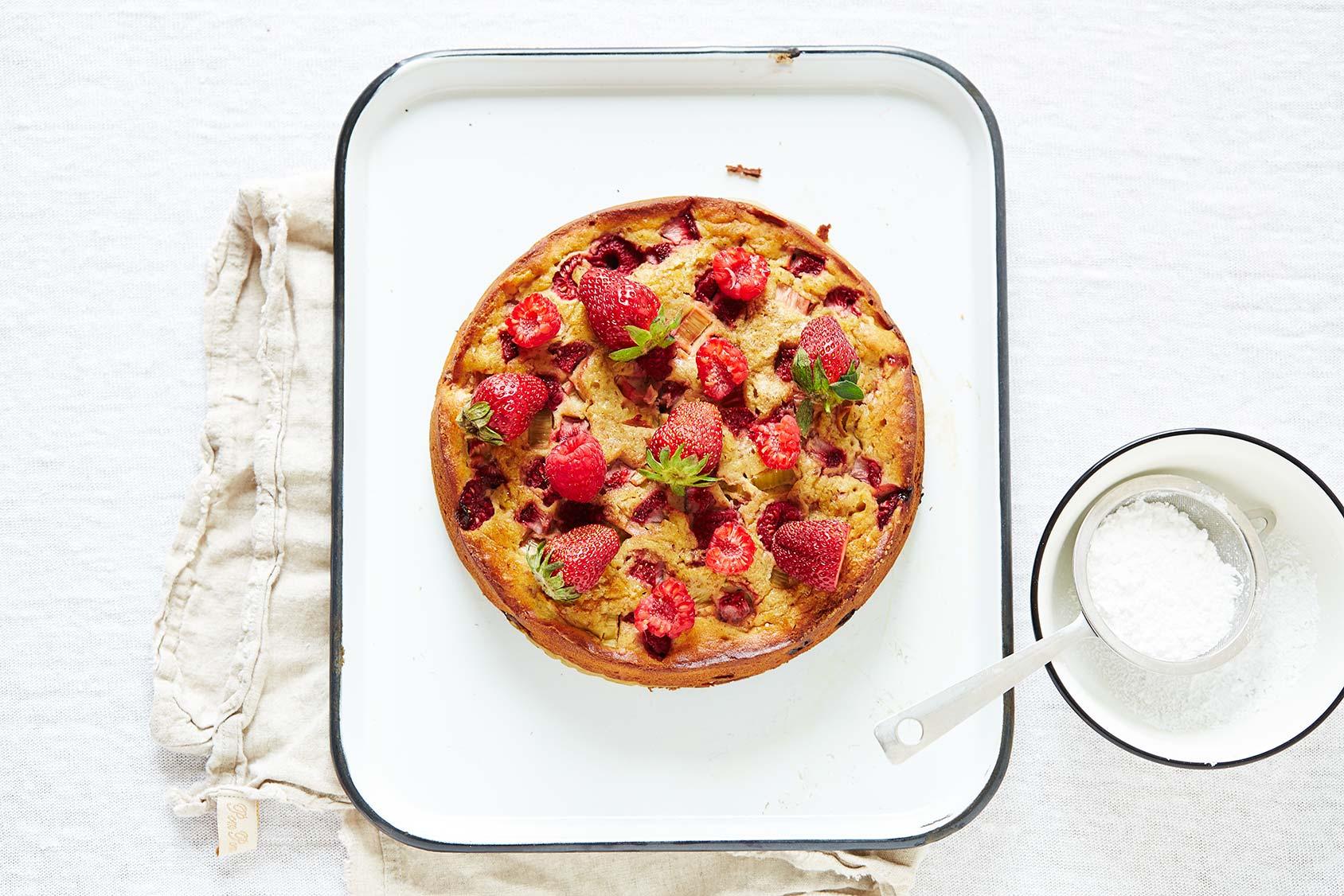 Gluten-free Rhubarb Cake