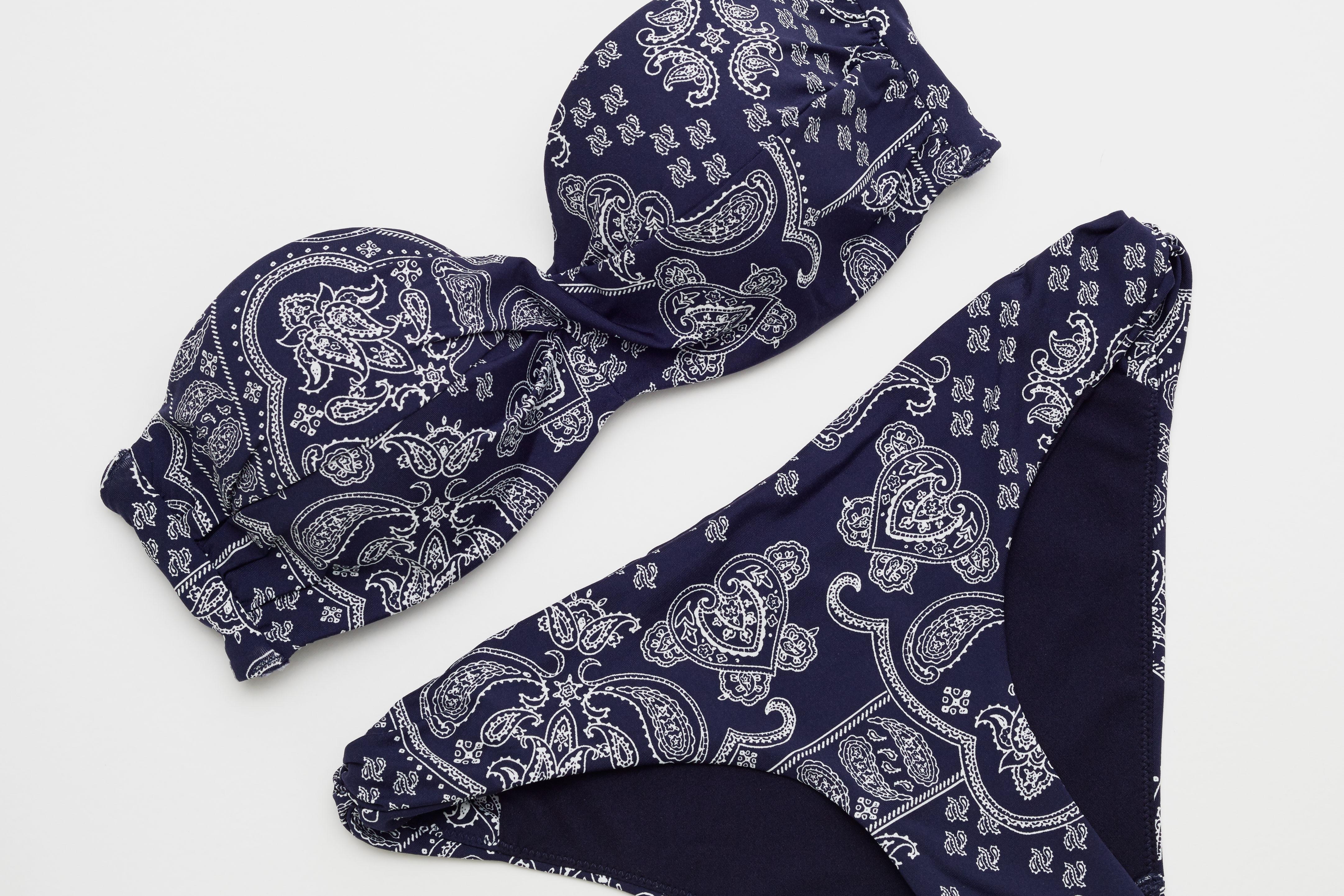 Paisley bikini H&M blue