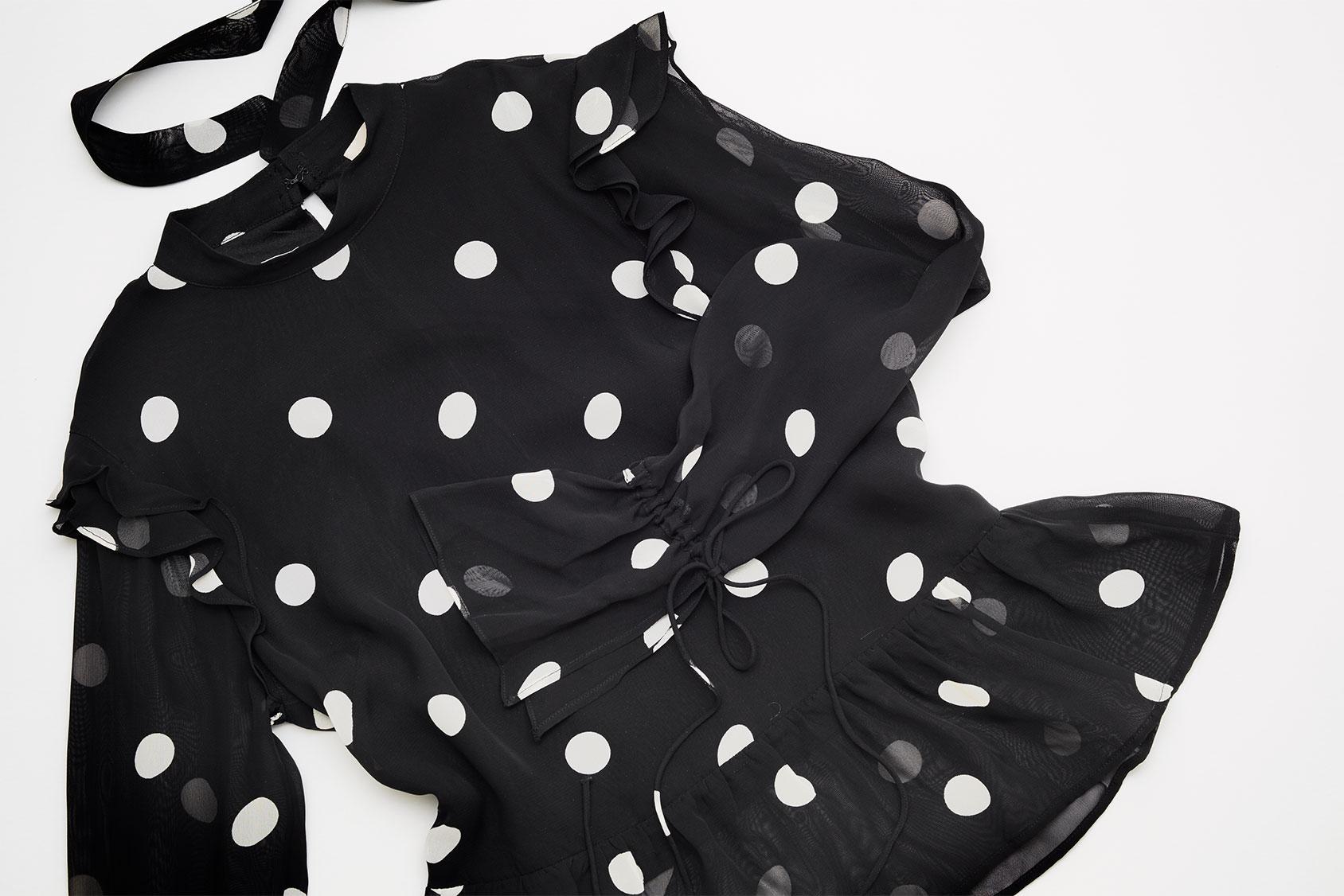 Polka dot blouse H&M