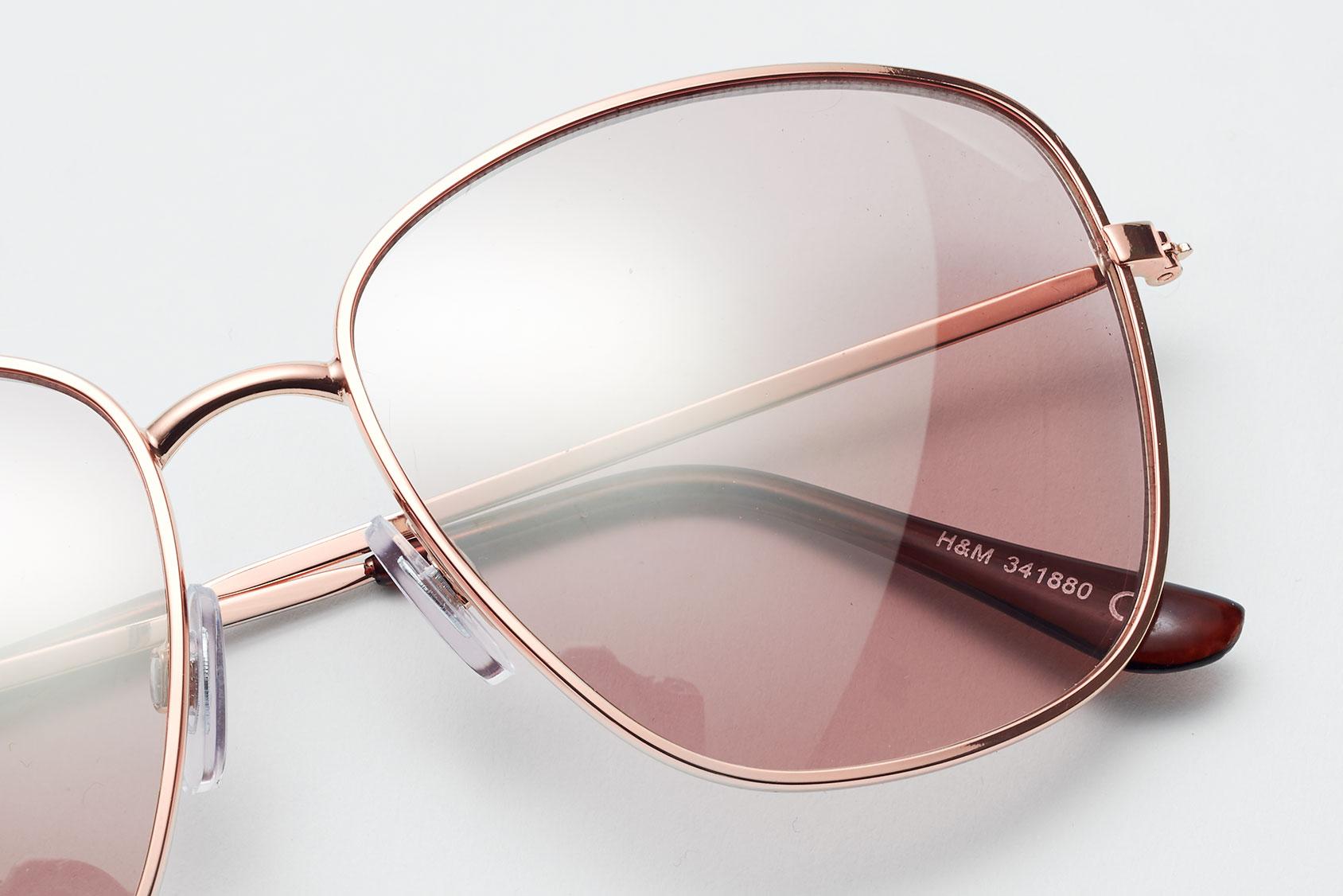 H&M粉色太阳镜