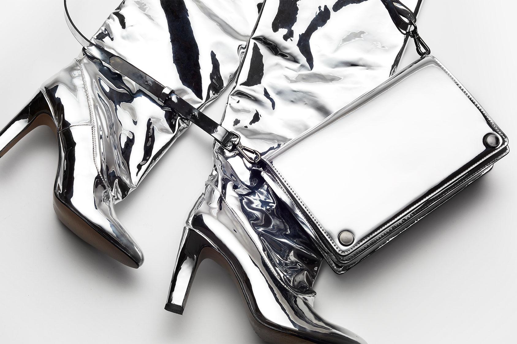 Silver metallic H&M