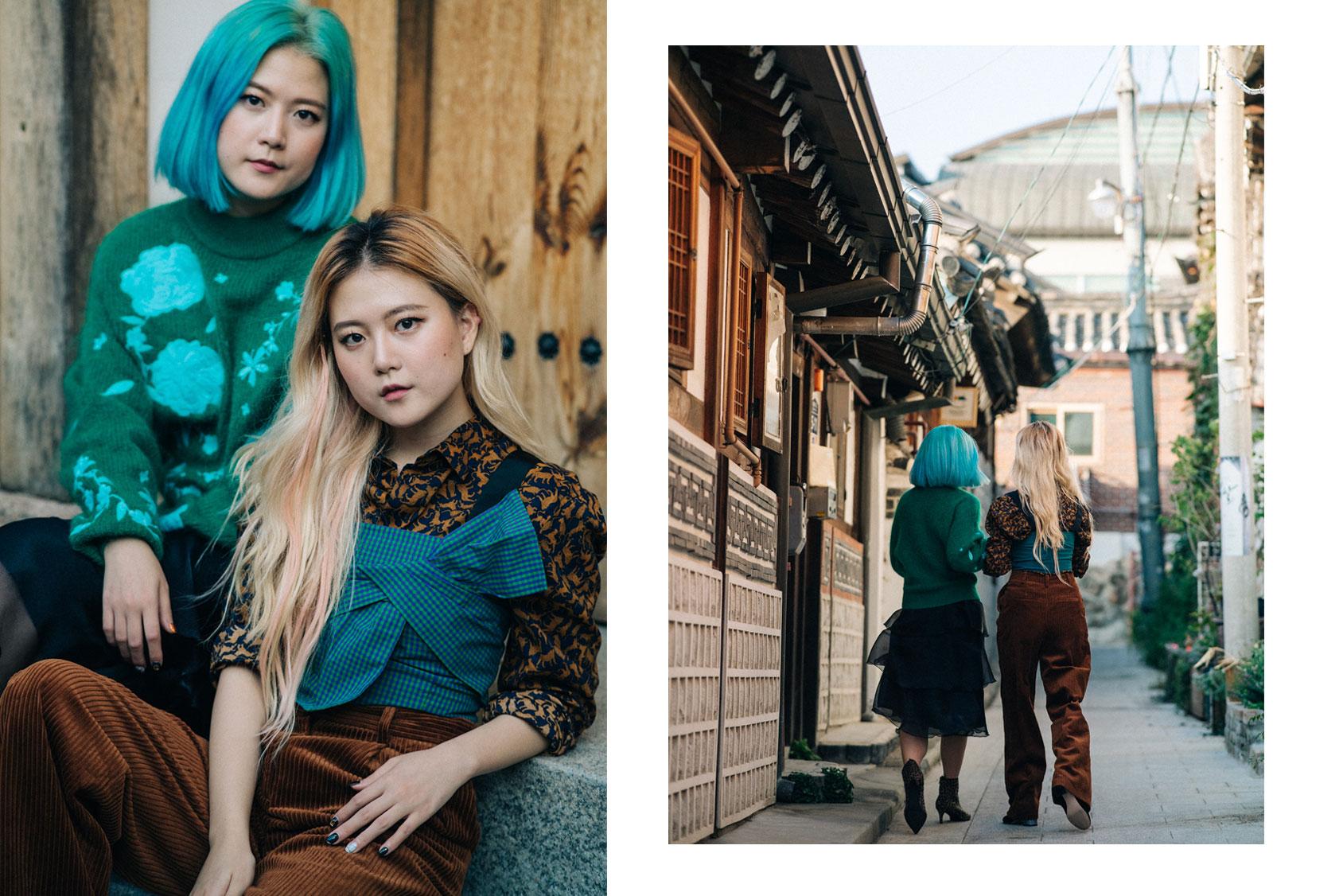 穿H&M的Qjin和Qwon姐妹