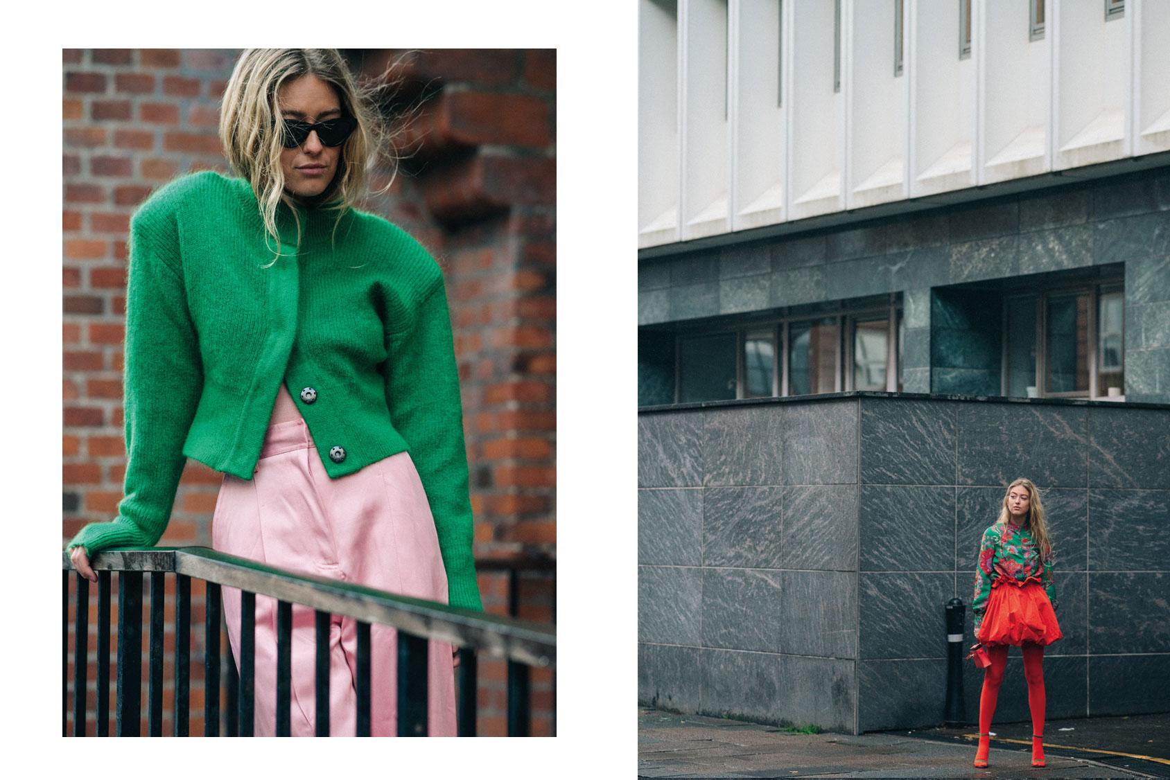穿H&M开襟衫的Emili Sindlev