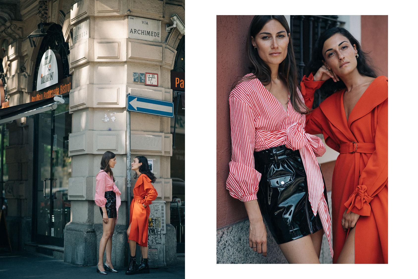 Giorgia and Giulia Tordini H&M outfit