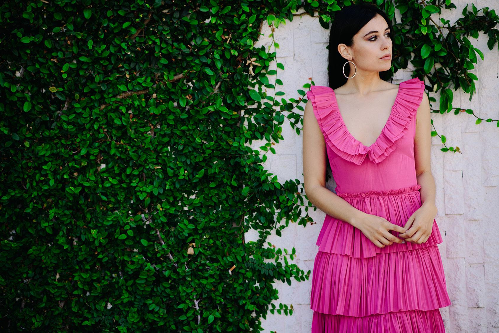 Marta Pozzan con vestido de H&M
