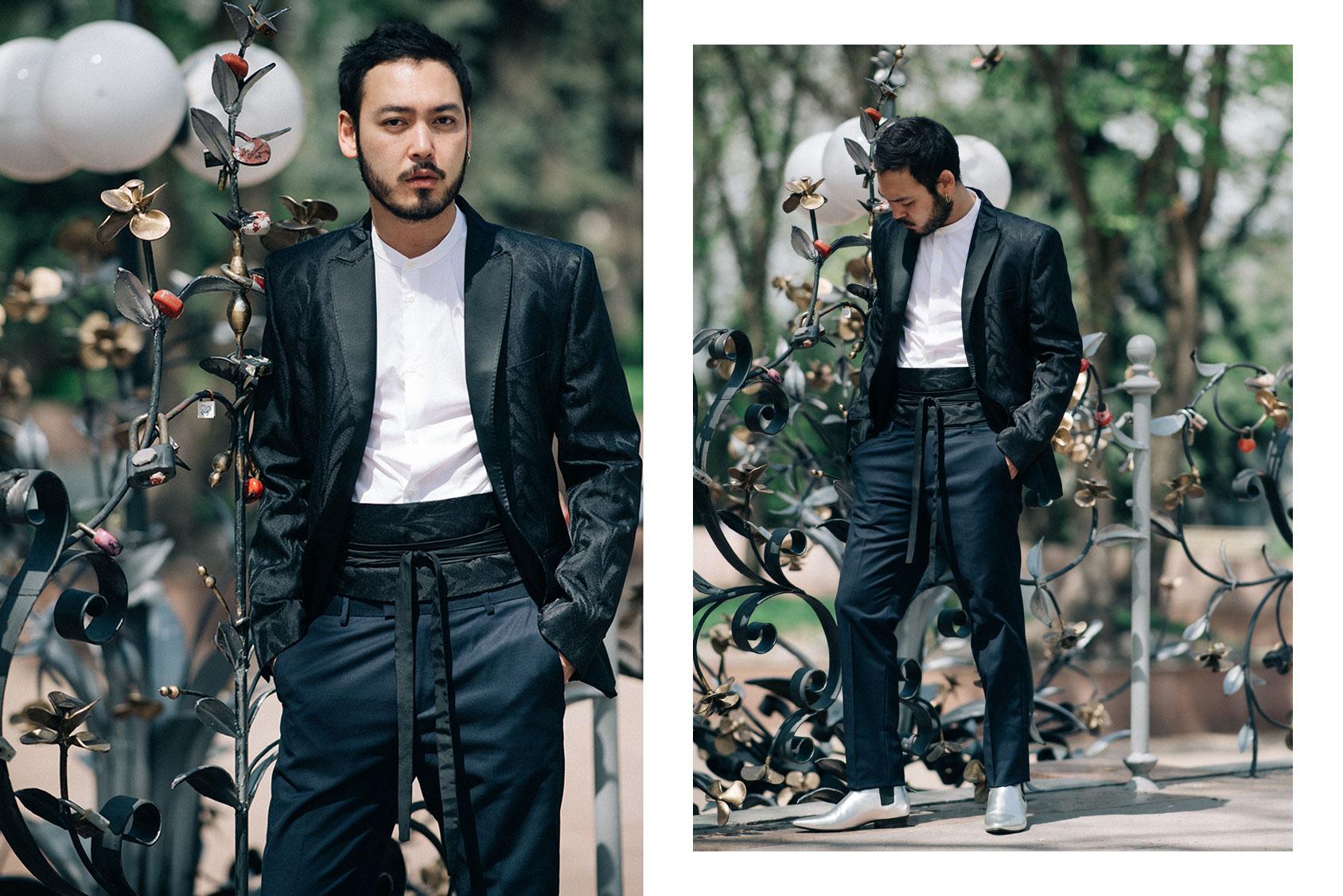 Yan Ray wearing H&M tuxedo