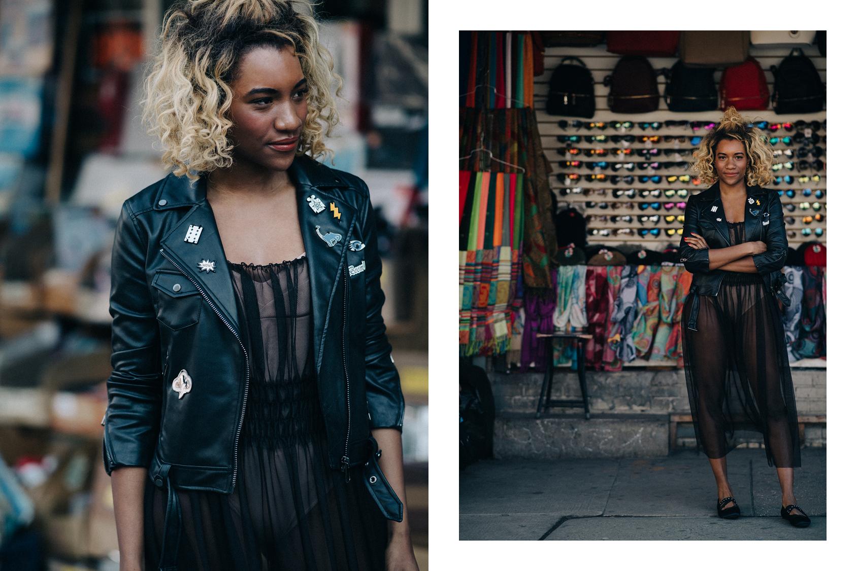 Danielle Prescod wearing H&M jacket