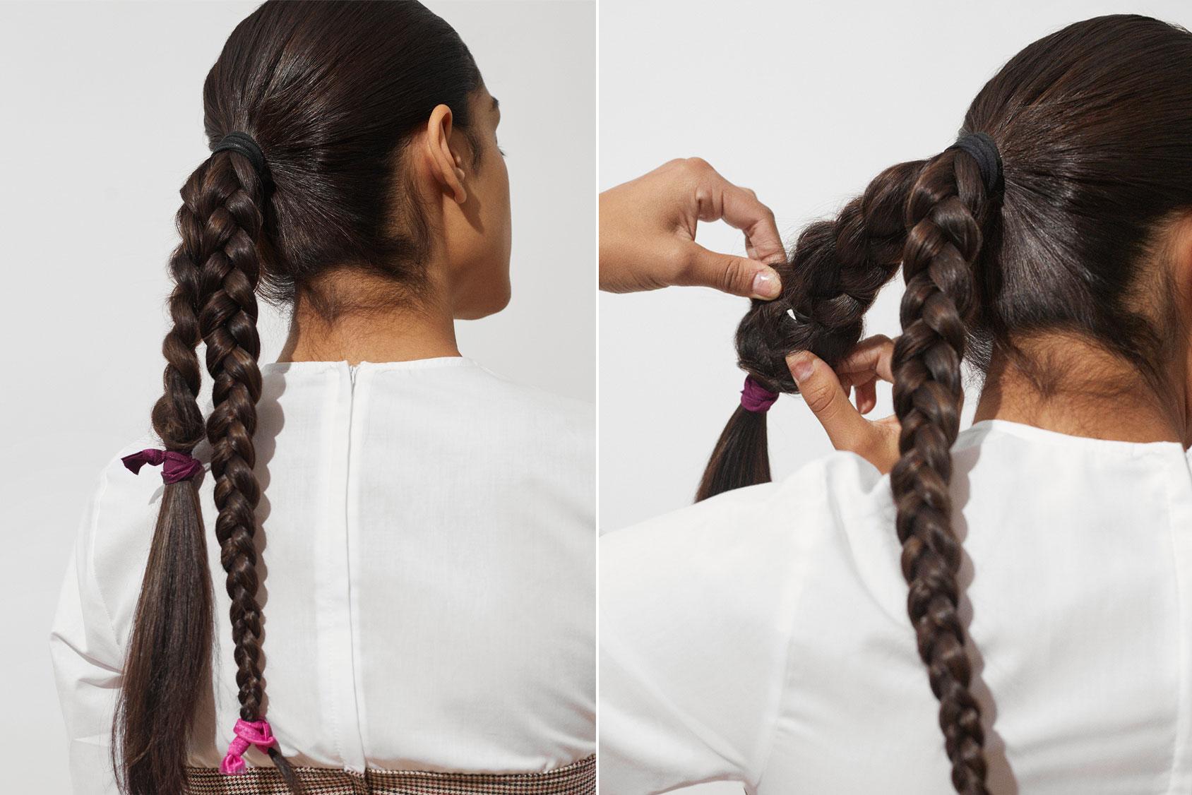 辫子发髻教程H&M