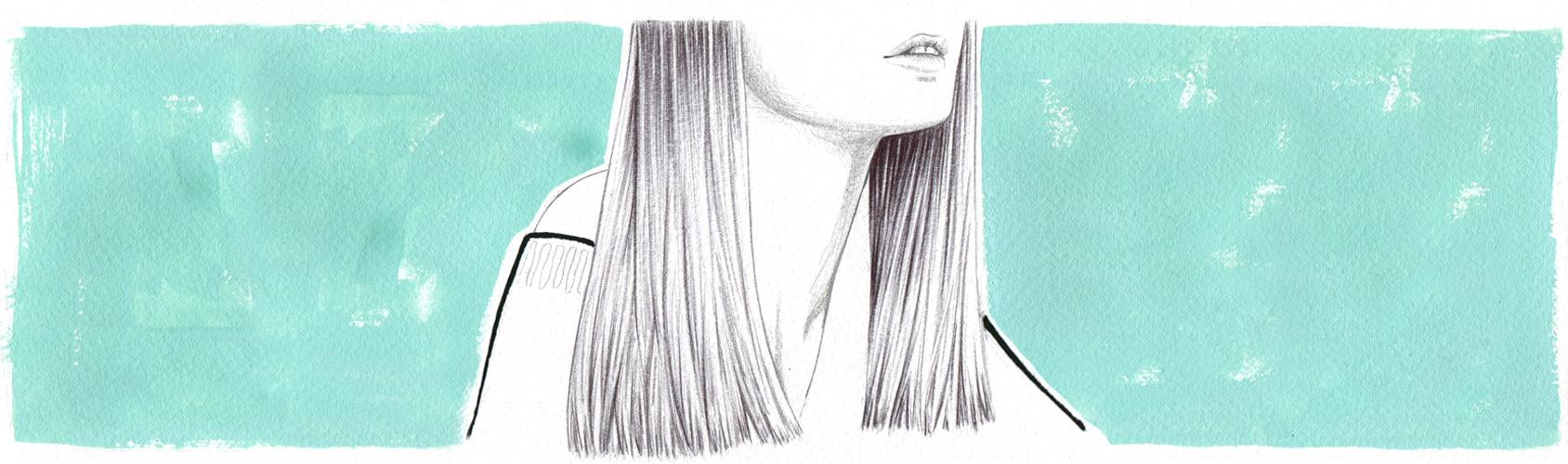 PIN-STRAIGHT HAIR