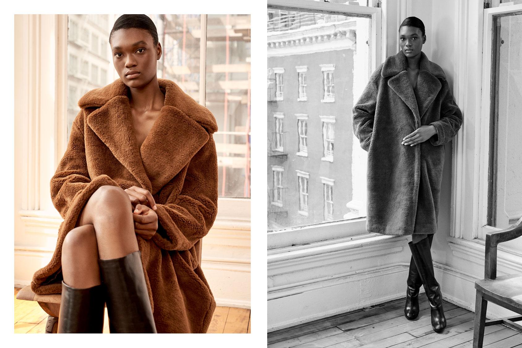Abrigo de piel Premium Essentials H&M