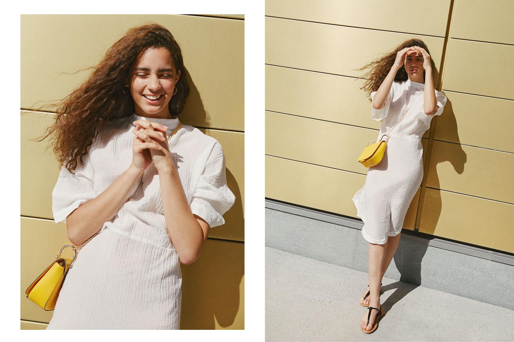 H&M'den beyaz yaz elbisesi