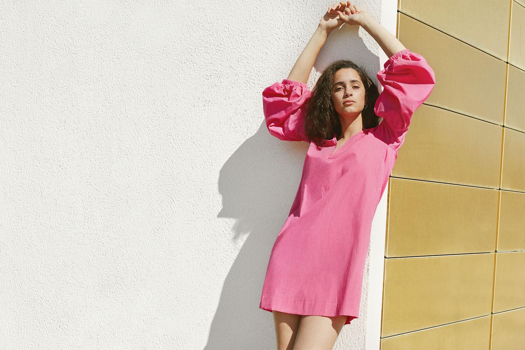 H&M'den pembe elbise
