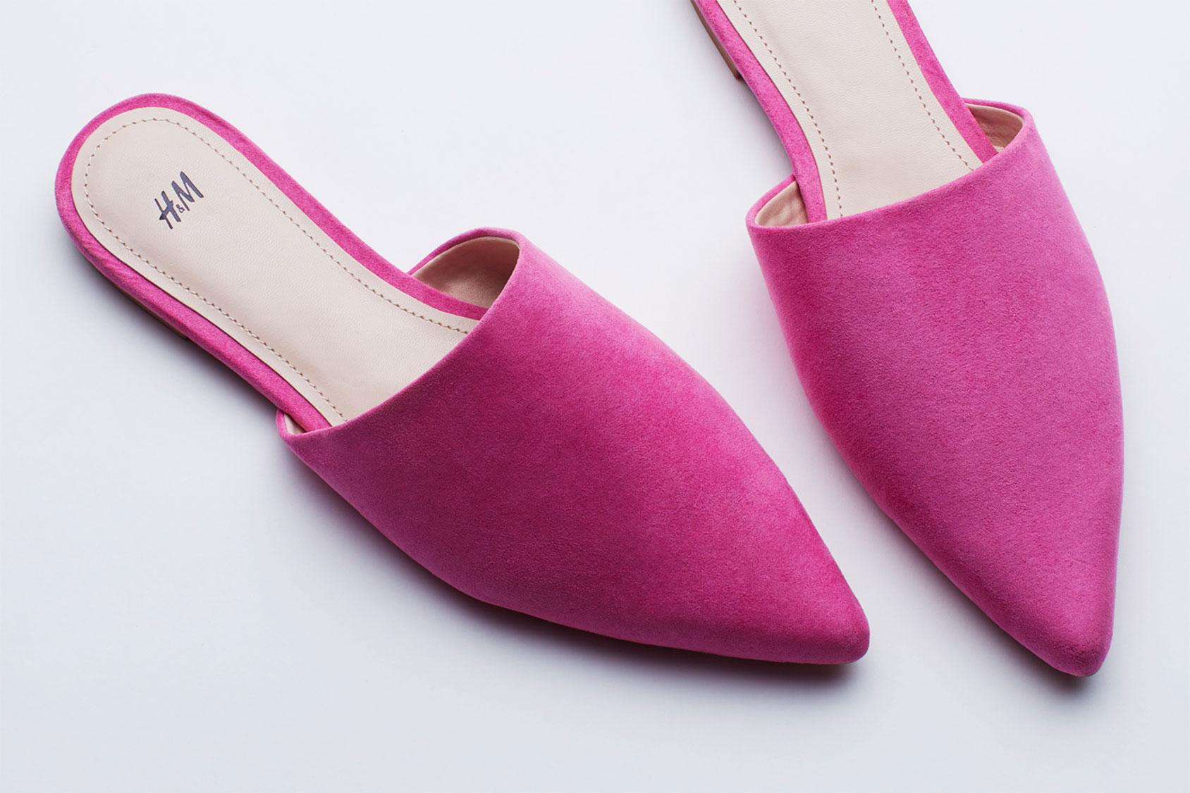 H&M粉红穆勒鞋