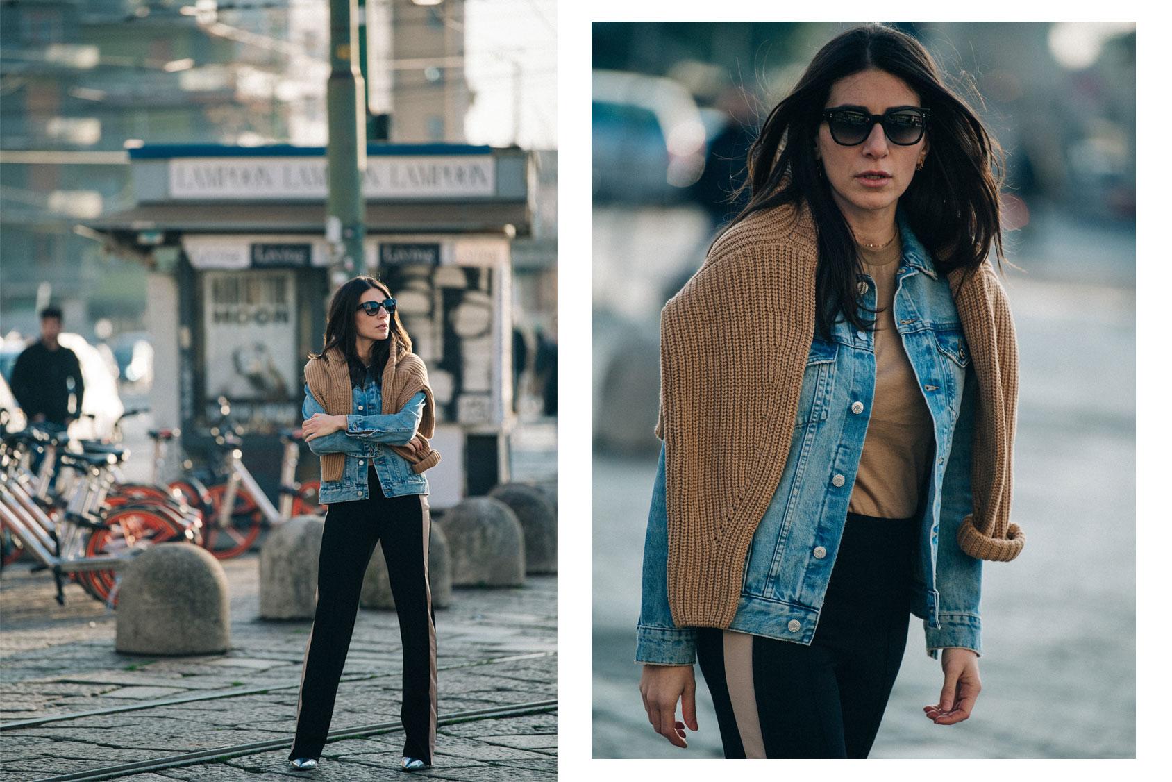 Alessandra Airó穿着 H&M牛仔服