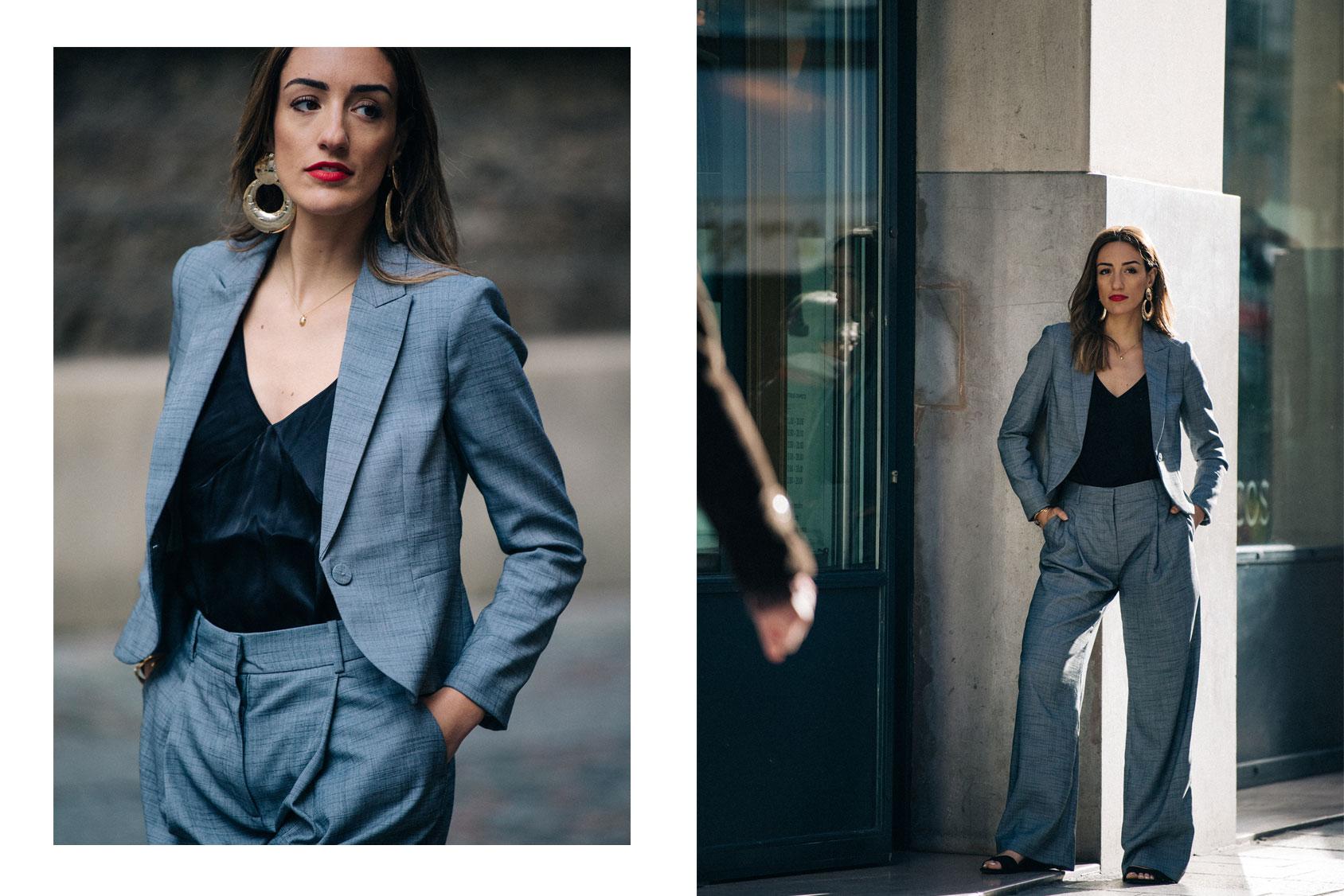 Kenza Sadoun El Glaoui con un traje de H&M