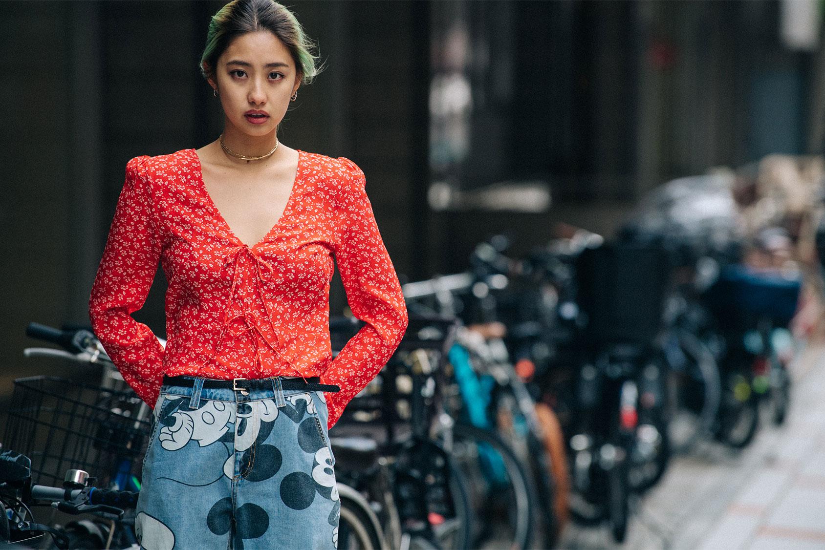 Minori Nakada in H&M shirt