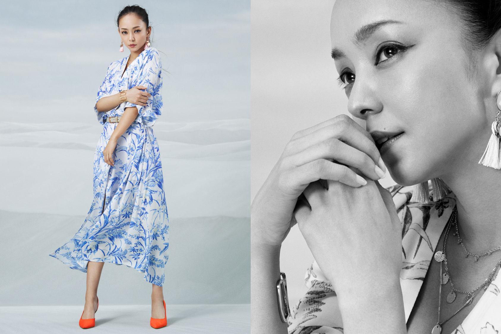 Namie Amuro x H&M: floral dress
