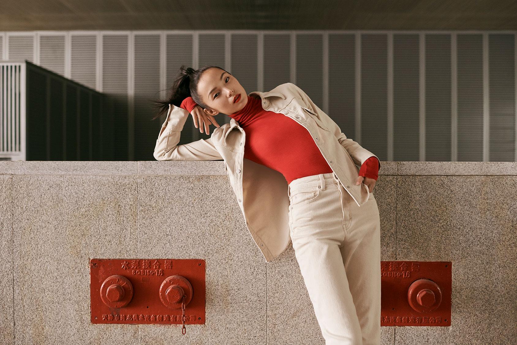 Ju Xiaowen in H&M Studio collection