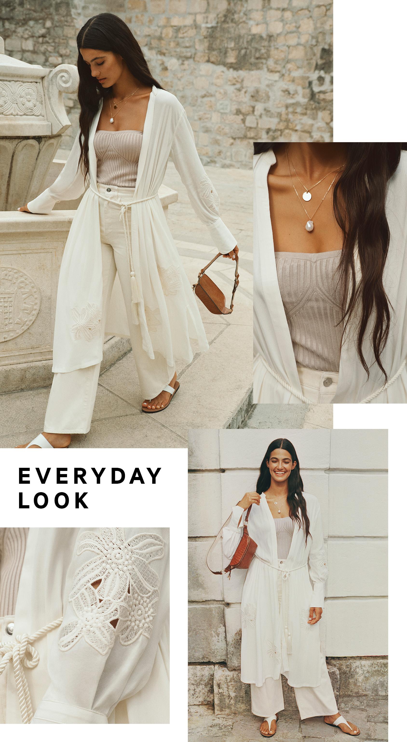 EVERYDAY LOOK H&M white dress