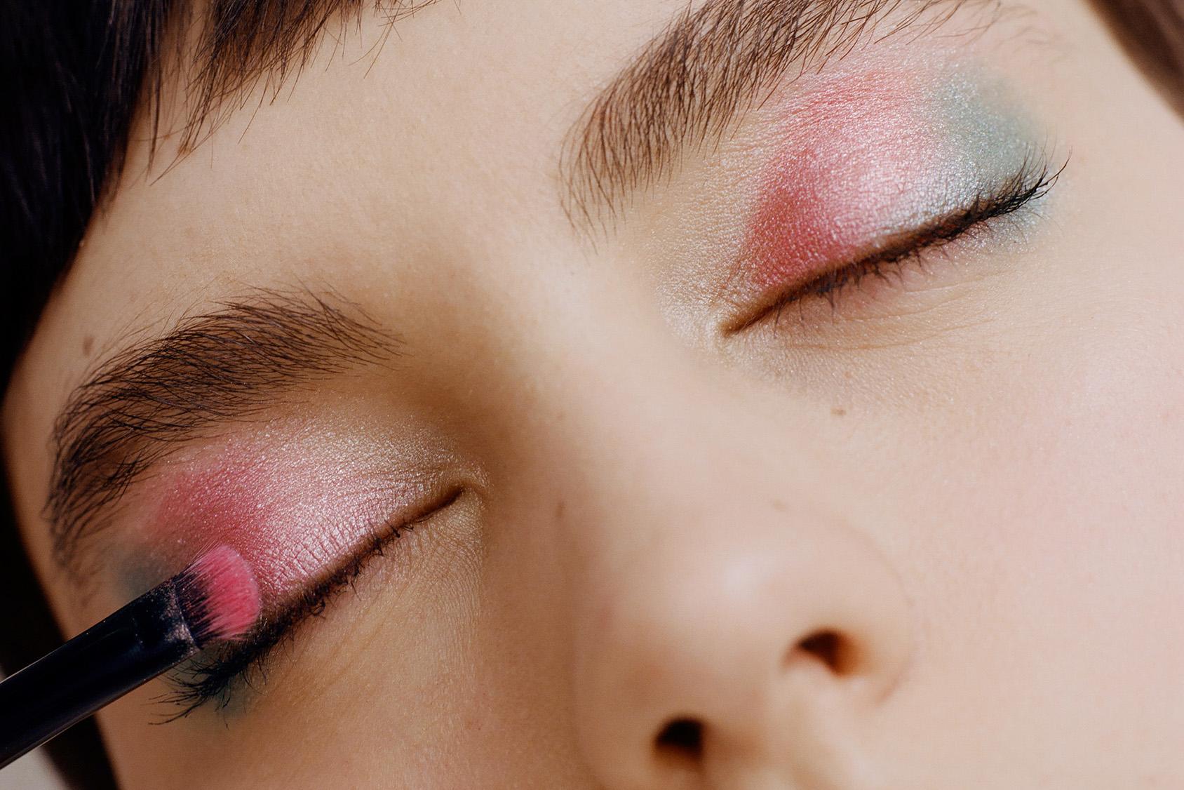 H&M pastell eyeshadow look