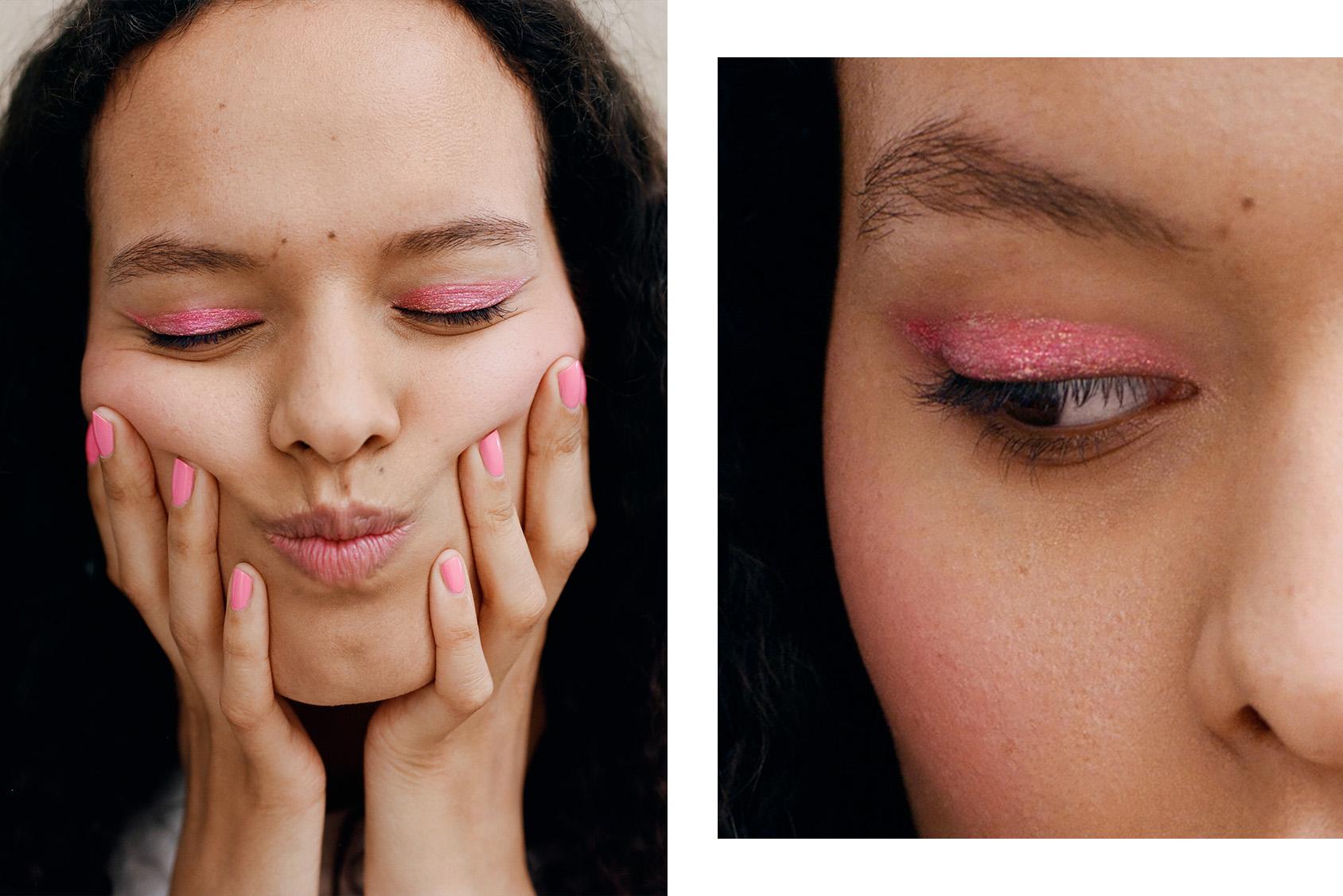 H&M pink eyeshadow gliter