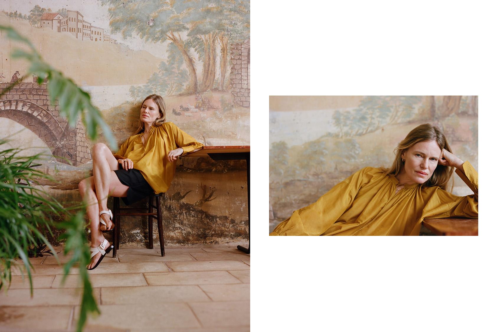 H&M yellow tunic