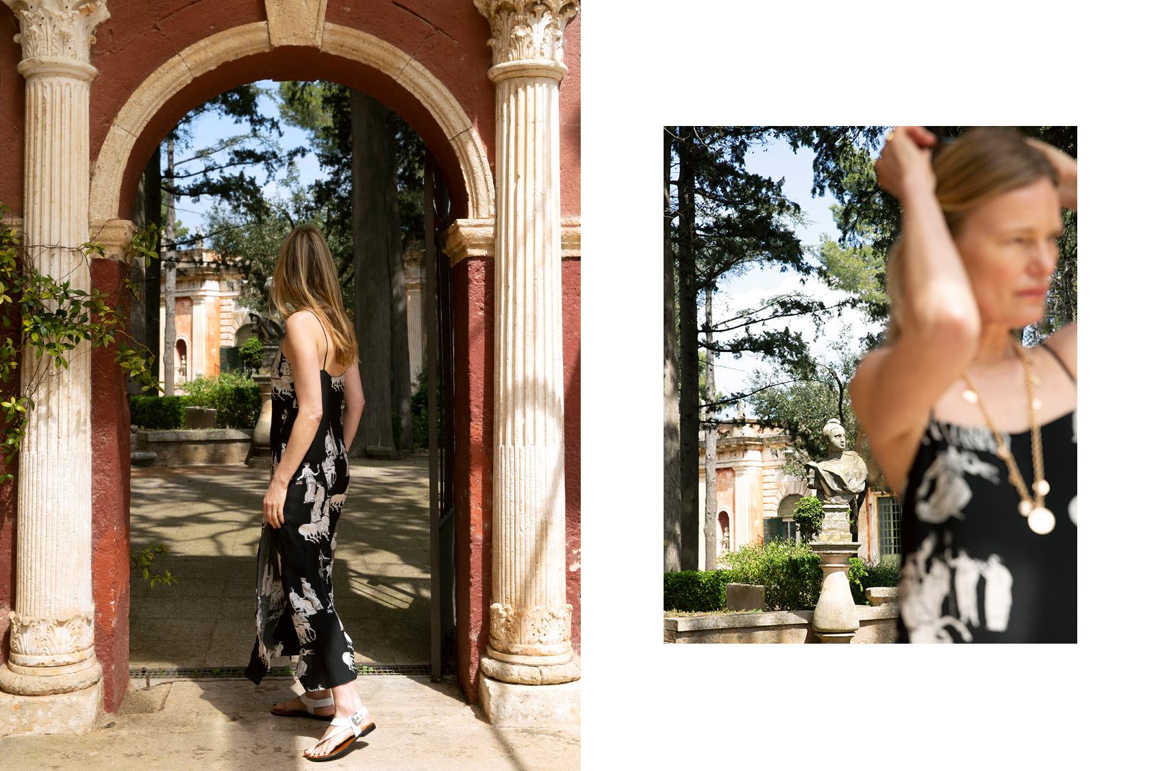 H&M printed slip dress