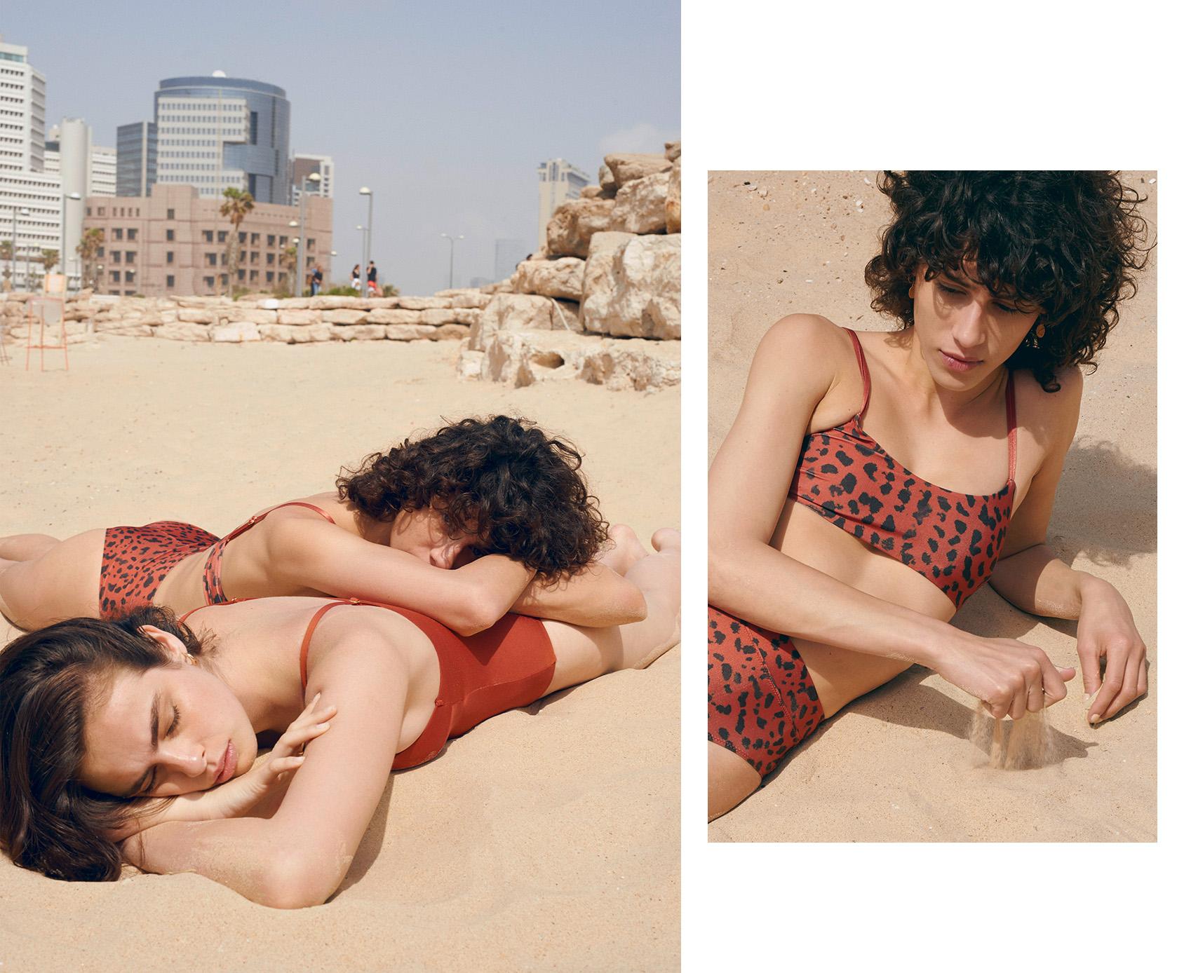 H&M leo printed bikini