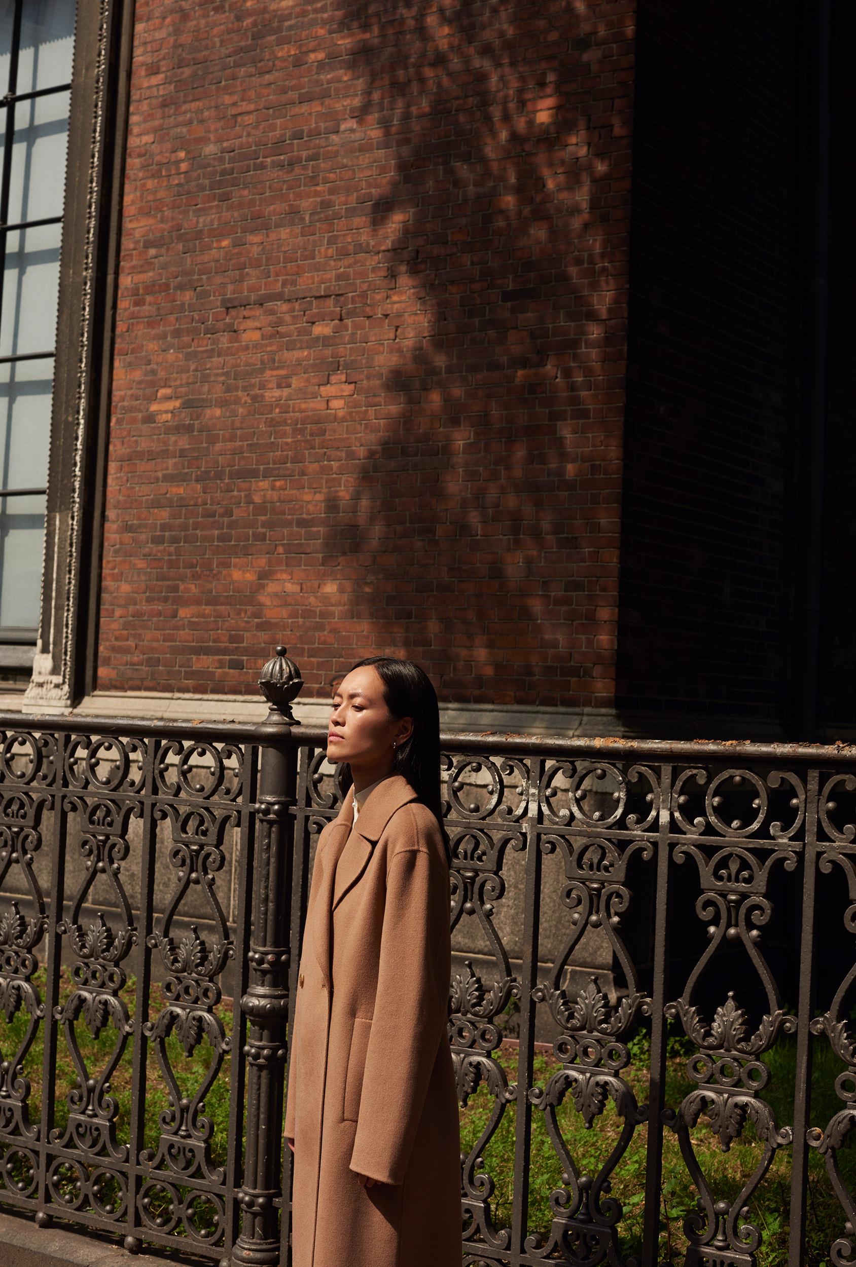 Maria Van Nguyen H&M camel coat