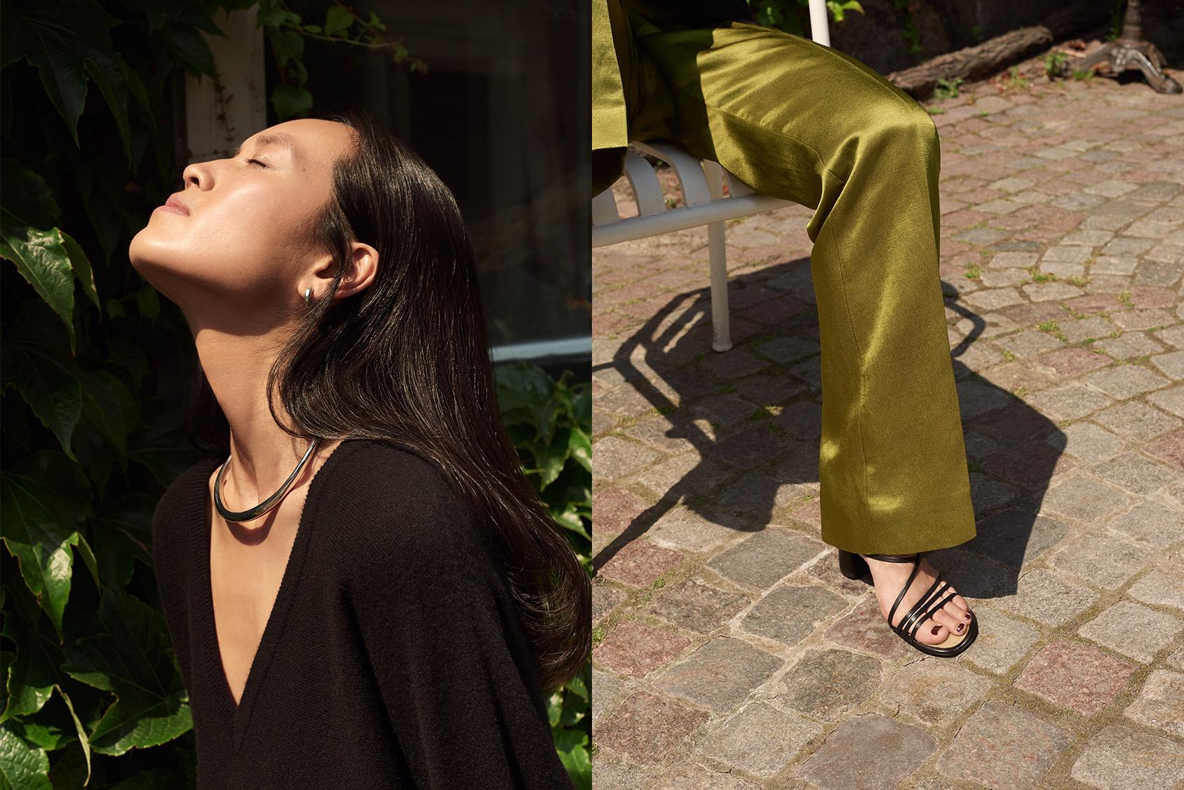 Maria Van Nguyen green trousers H&M