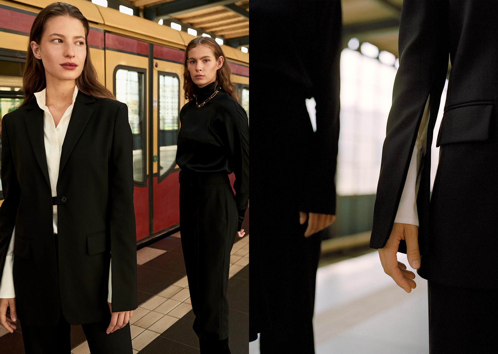 H&M blazer with slit sleeves